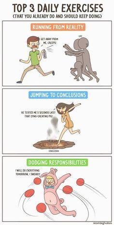 Top 3 - Exercícios diários que já fazes e deves continuar a fazer ;D