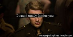Avengers Pickup Lines. Thanks for making my night @Ashley Marie