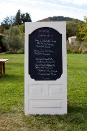 chalkboard paint on an old door - need to find a place for this