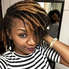 Thinking of getting yarn dreads? If you're looking for yarn locs inspiration then check out these 40 chic, beautiful and most popular yarn dreads styles. Short Locs Hairstyles, Short Dreads, Twist Hairstyles, Hairstyles Pictures, Black Hairstyles, Natural Hair Journey, Natural Hair Care, Natural Hair Styles, Curly Hair Styles
