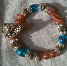 Angelic Elegance Beaded Bracelet by RandRsWristCandy on Etsy, $7.00