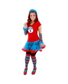 Dr Seuss Thing 1 And Thing 2 Tutu Adult Costume