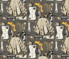 A New Look fabric by slumbermonkey on Spoonflower - custom fabric