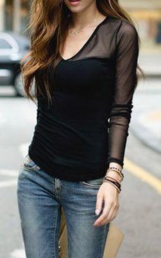 Long sleeve splicing layer denim dress for girls