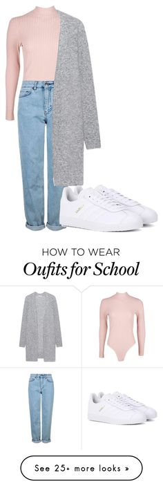 """School"" by maritkrijt on Polyvore featuring Boohoo, Topshop, Acne Studios and adidas Originals"