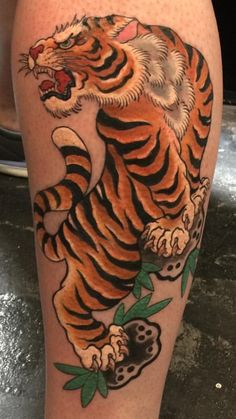 Traditional Japanese Tiger by Ami James at Love Hate Social Club Manhattan NY