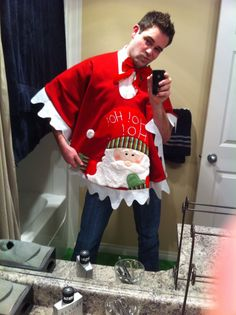 Ugly Christmas Sweater (I mean poncho ... I mean tree skirt lol!)
