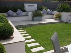 Image result for narrow back garden design