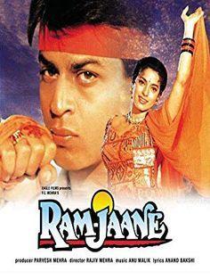 Juhi Chawla and Shah Rukh Khan in Ram Jaane Half Girlfriend Full Movie, Bahubali 2 Full Movie, Watch Hindi Movies Online, Hindi Movie Film, Srk Movies, 1995 Movies, Best Bollywood Movies, Recipes, Cinema