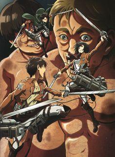 Attack on Titan ~~ Levi, Mikasa, and Eren
