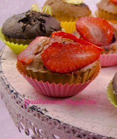 Cupcake de fresa fitness