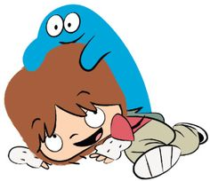 Blue on Fosters Home for Imaginary Friends, the most epic imaginary friend ever.