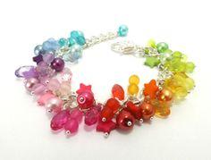 Rainbow Bracelet Multicoloured Bracelet Rainbow by FunkyPinks, £9.99