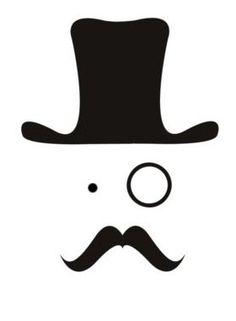 Cute mustache face
