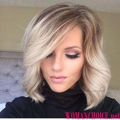 Стрижки на средние волосы с челкой - 96 модных фото   WomanChoice - женский сайт