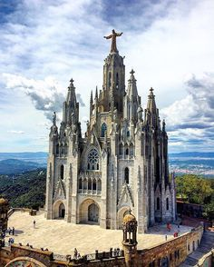 The Temple Expiatori del Sagrat Cor is a Roman Catholic church and minor basilica located on the summit of Mount Tibidabo in Barcelona, Catalonia, Spain.