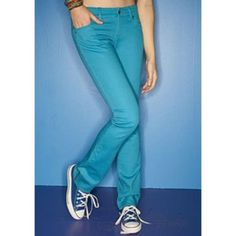 Womens Juniors Delias Low Rise Colored Skinny Jeans Pants Denim  #dELiAs #SlimSkinnyLowRise