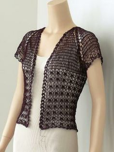 Ravelry: Project Gallery for Lace Crochet Bolero pattern by Doris Chan  -  Free by TamidP