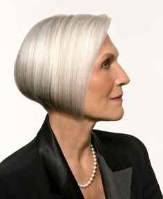 I have to tell ya kids, if mama's hair looked like this silver fox, I might consider becoming a silver fox!