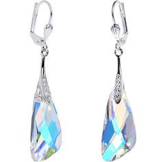 4f8d8fbe5 Body Candy Handcrafted Silver Plated Aurora Inspire Dangle Earrings Created  with Swarovski Crystals ** Want