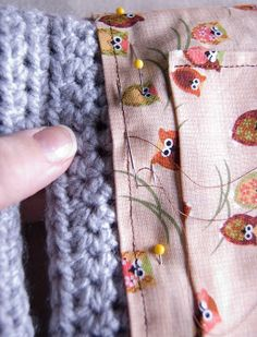 For us first-timers, really good tutorial on lining a crocheted bag