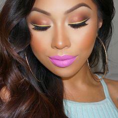 Used all Anastasia shadows Glamour Beauty, Beauty Bar, Beauty Makeup, Eye Makeup, Hair Makeup, Makeup Inspo, Makeup Inspiration, Makeup Ideas, Summer Lipstick