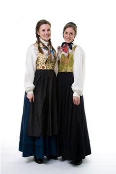 Damask kjol fra Gudbrandsdalen. heimen.net