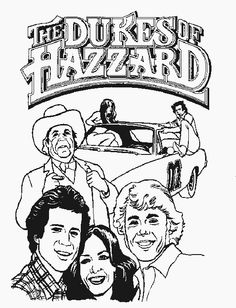 TimelessTrinkets.com Dukes of Hazzard Coloring Pages