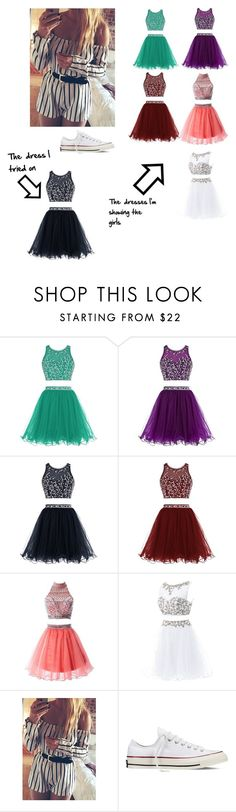 """""""Dress shopping!!-Avery"""" by cecilia-bella ❤ liked on Polyvore featuring beauty and Converse"""