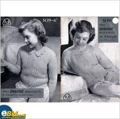 Vintage knitting bedjacket pattern, patterns #509 on eBid United Kingdom