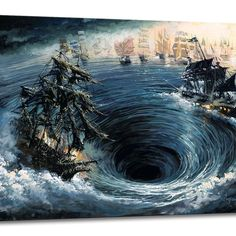 Thomas Kinkade Pirates of the Caribbean: Curse of the Black Pearl - New Disney Release Pirate Art, Pirate Life, Pirate Ships, Pirate Crafts, Davy Jones, Bateau Pirate, Pirate Tattoo, Disney Fine Art, Flying Dutchman