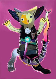 Acrílico / papel 100x70 cm. Pikachu, Fictional Characters, Art, Paper Envelopes, Cats, Craft Art, Kunst, Gcse Art, Art Education Resources