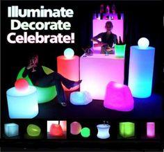 Puff.esferas, Macetas- Alquiler Y Vta De Mobiliario Luminoso  http://www.alquiler.com/eventos