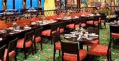 Norwegian Gem cruise ship Blue Lagoon 24-hour food court-style dining.