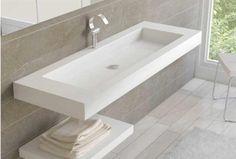 Encimera de baño de solid surface
