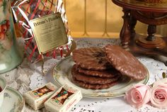 Our chocolate dipped pizzelles
