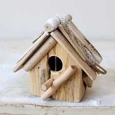 Driftwood Bird House - garden accessories