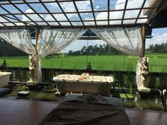 Spa in the ricefield!