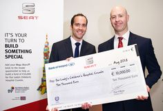 @SEAT Cars Ireland dealers across the country helped raise the huge figure of €10,000 for Our Lady's Hospital Crumlin #fundraising #SEAT