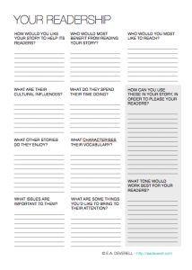 Your Readership (Writing Worksheet Wednesday) Book Writing Tips, Writing Process, Writing Quotes, Writing Help, Writing Jobs, Creative Writing Worksheets, Creative Writing Ideas, Writing Resources, Writers Notebook