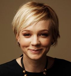 Carey Mulligan Short Straight Blonde Hairstyle. Short Pixie Cuts