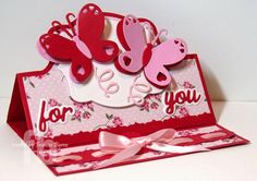 For You created by Frances Byrne using Sizzix Royal Stand-Ups Framelits; Sizzix Butterfly Triplits