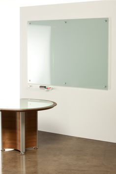 Gotta love a white board that's made of glass - so chic!  Favourite Things