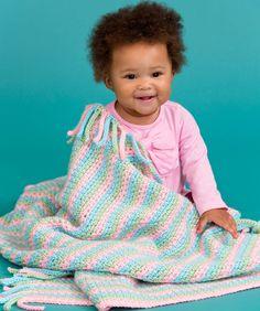 Hübsche pastellfarbene Babydecke