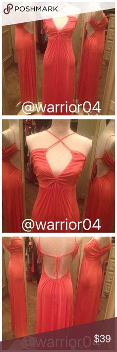 2XHP 7/8 & 6/23/16 Coral Tie Back Maxi Dress Coral Tie Back Maxi Dress size Medium Julia Dresses Maxi