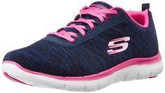 Skechers - Flex Appeal 2.0, Zapatillas De Deporte Para Exterior Mujer, Azul (Nvpk), 38 EU