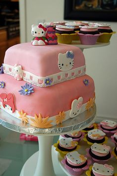 Within the HELLO KITTY CAKES gallery album you will find quite a few (total of pictures that you can browse, enjoy, comment upon and discuss. Please feel free to share + upload your own Hello Kitty Cakes pics plus read other people's opinions. Hello Kitty Themes, Hello Kitty Cake, Hello Kitty Birthday, Pink Birthday, Birthday Cakes, Happy Birthday, Pretty Cakes, Beautiful Cakes, Amazing Cakes