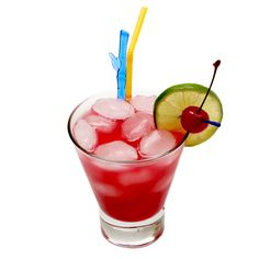 Sex on the Beach   45 ml vodka  15 ml peach schnapps  8 ml Chambord (raspberry liqueur)  60 ml cranberry juice  60 ml pineapple juice  Shake all ingredients and strain into highball glass with ice. Garnish with piece of lime.