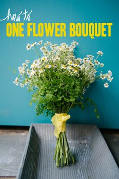 How to make a one flower bouquet