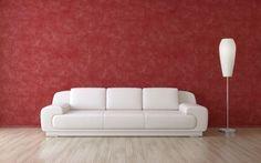 Decorar salón en rojo, negro y gris - Pares roja